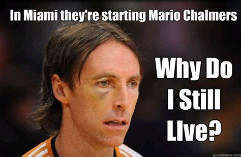 mario chalmers meme the heat are starting mario chalmers free steve nash