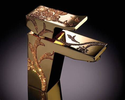 Luxury Faucets Maier Luxury Faucets Adorned With Swarovsky Crystals