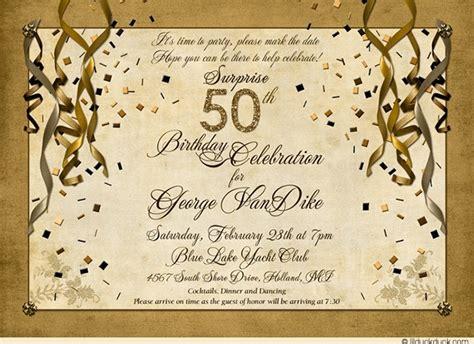 50th anniversary invitation ideas 50th birthday cocktail celebration invitations