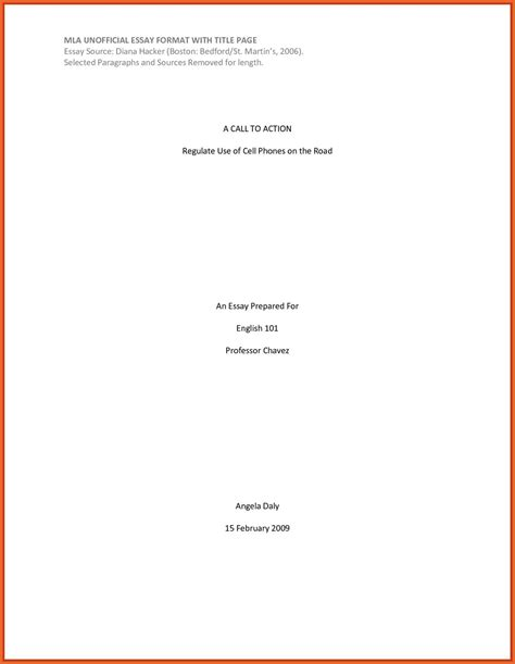 mla title page template mla cover page template sheet format for research paper