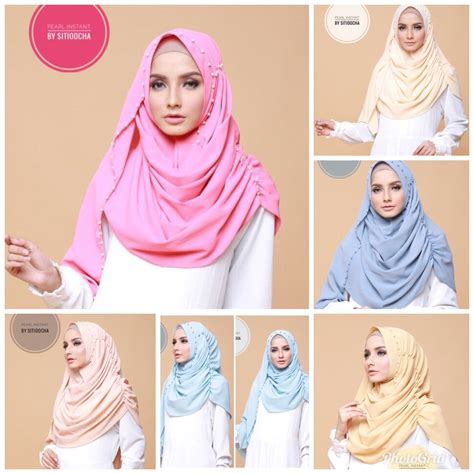 Jilbab Instant Pastan Pearl pearl instant original by sitioocha almanah store
