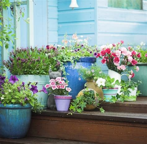 balcony garden containers patio and balcony planter ideas