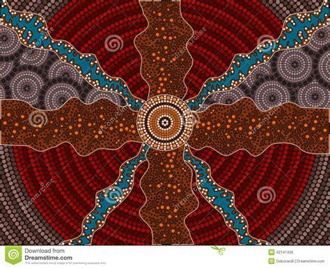 illustration based  aboriginal style  dot painting
