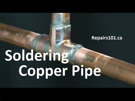 How To Solder Plumbing Copper Pipe by Soldering Copper Pipe Basics Noisy Pipes Water Hammer