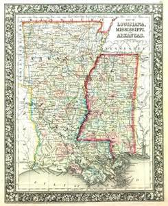 map of louisiana mississippi and arkansas barry