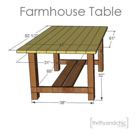 Outdoor Patio Table Plans Thrifty And Chic Diy Projects And Home Decor