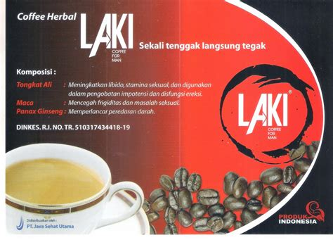 Obat Herbal Alami Kopi Grenk Isi 10 Sachet Original Asli Termurah grosir jamu 2015 kopi laki coffee for box 5