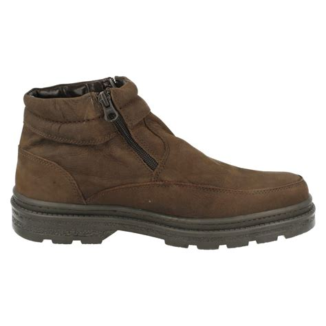 zip up boots mens luca mancini dual zip up boots lm2707 ebay