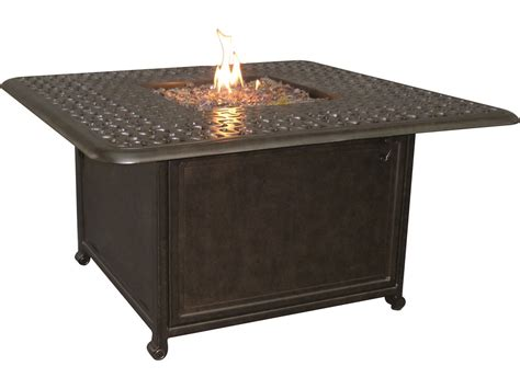 Firepit Coffee Table Castelle Cast Aluminum 42 Square Coffee Table With Firepit And Lid Dsf42wl