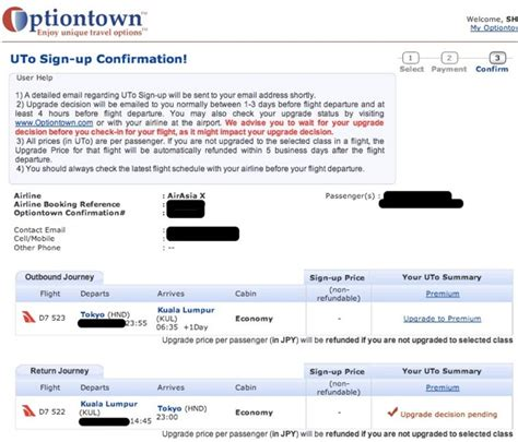 airasia optiontown airasia xのアップグレードが75 offになるoptiontownに申込してみた