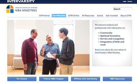 Intervarsity Mba Ministry by Business As Mission