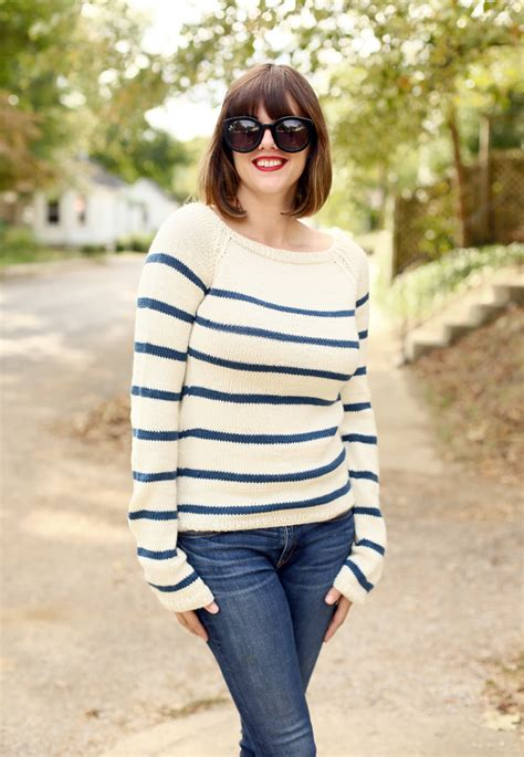 knitting pattern striped jumper my diy hand knit striped sweater on what i wore