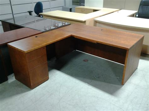 used l shaped desk used l shaped desk used l shaped reception desk light