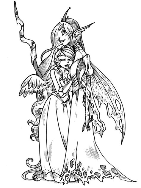 my little pony queen chrysalis coloring pages coloring pages mlp chrysalis and cadence by secondlina on