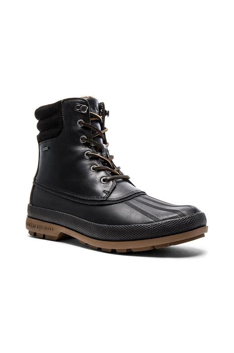sperry boots sperry top sider cold bay boot in black for lyst