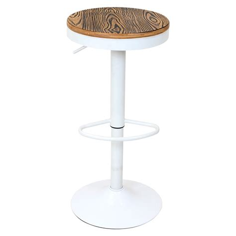 Dakota Adjustable Height Swivel Stool by Dakota Adjustable Height White Metal Swivel Bar Stool With
