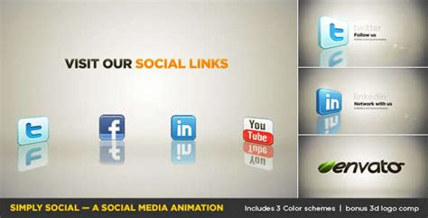 20 Social Media Inspired After Effects Templates Social Network Adobe After Effects Template Free