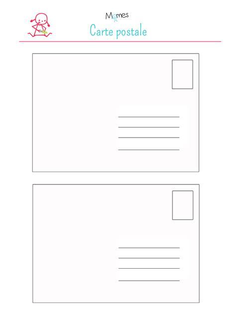 Modèle Carte Postale