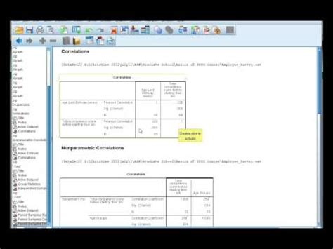 tutorial on spss for beginners spss for beginners 3 correlations doovi