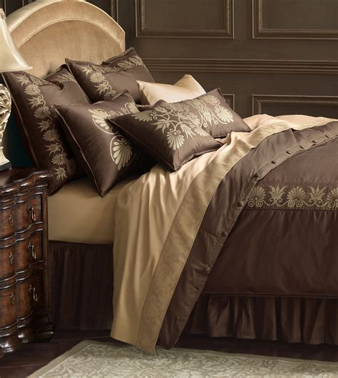 brown and gold comforter luxury bedding by eastern accents anthemion brown gold