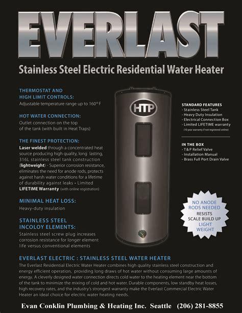 Everlast Plumbing by Everlast The Seattle Lifetime Warranty Electric Water Heater