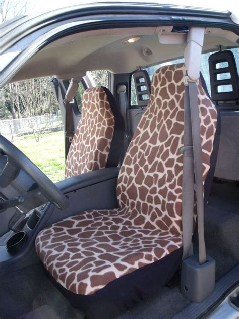set  large giraffe prints seat cover  steering wheel cover custom  cars wheels