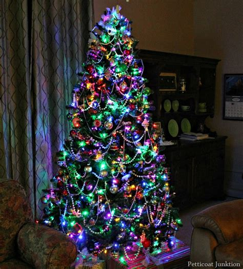 christmas tree colored lights ideas images