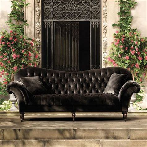 velvet tufted sofa mine is from restoration hardware and