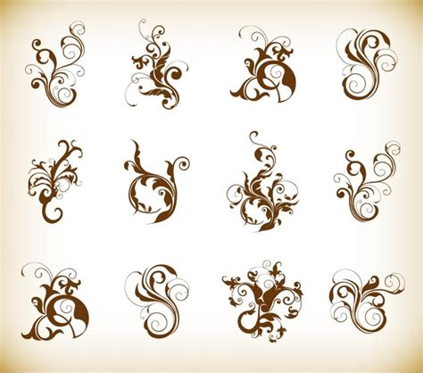 border decorative element patterns vector decorative swirl floral pattern elements vector graphics