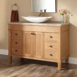 bathroom vanity with vessel sink vessel sink vanities signature hardware