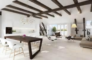 exposed ceiling beams interior design ideas