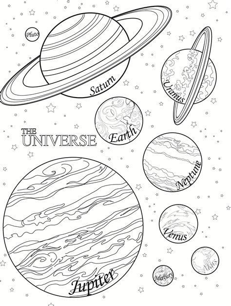 Free Printable Planet Coloring Pages For Kids Coloring Pages Of Solar System