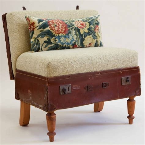Easy Chair With Ottoman Design Ideas 40 Creative Ways Of Re Using Suitcases