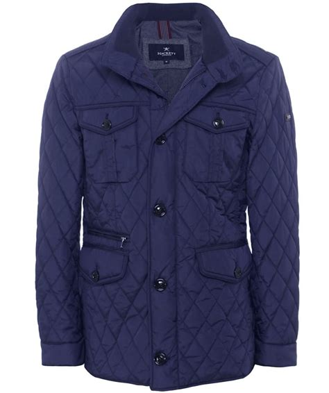 Hackett Quilted Jacket by Hackett Navy Quilted Holborn Jacket Jules B
