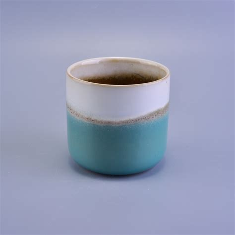 Ceramic Candle Holders by Vintage Transmutation Glazed Ceramic Candle Container With
