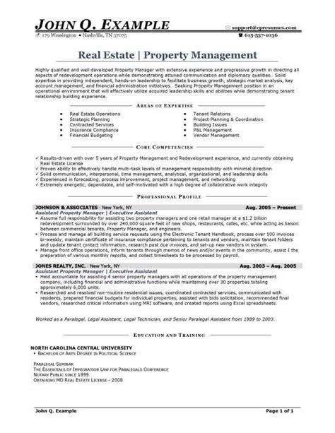 property manager resume sle http resumesdesign