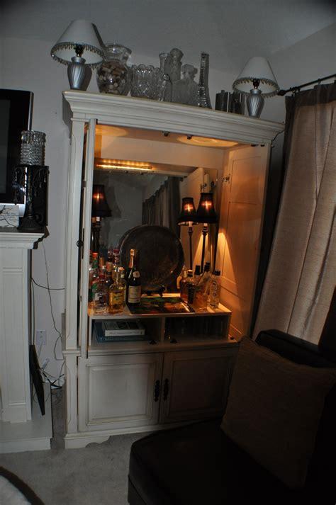 converting armoire ideas bar