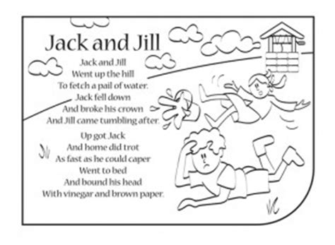 preschool coloring pages jack and jill nursery rhymes are a great way to introduce your child to