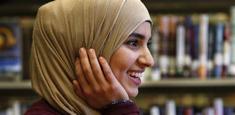 muslim women wear  hijab