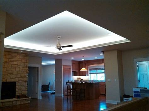 Indirect lighting Modern Living Room Cedar Rapids by Germaine Electric Inc
