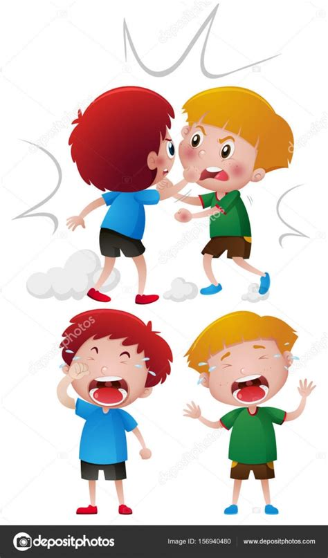imagenes niños peleando dos ni 241 os peleando y llorando archivo im 225 genes
