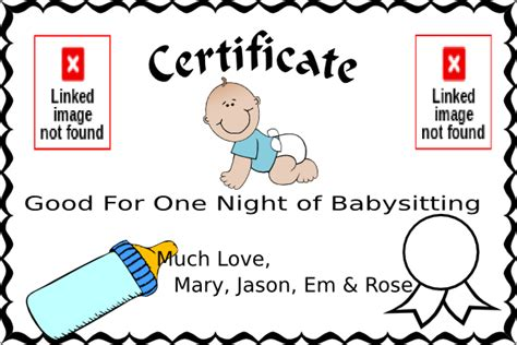 babysitting coupon template babysitting coupon clip at clker vector clip