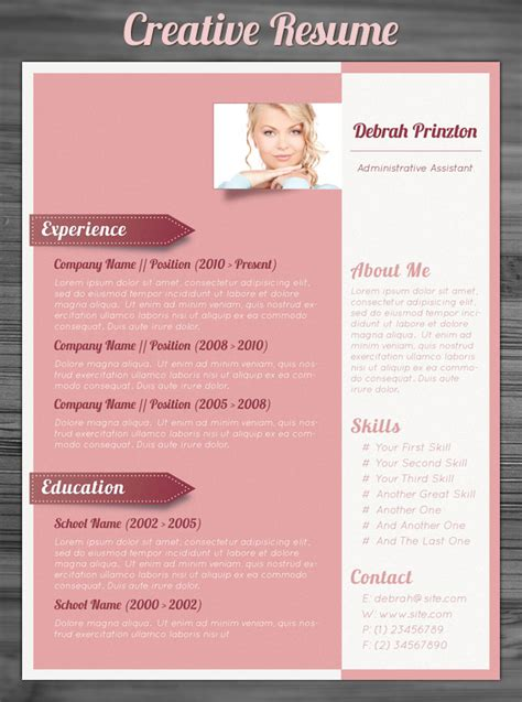 creative resume template free 21 stunning creative resume templates