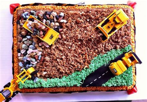 aerial view  construction cake birthday cakes construction  birthdays