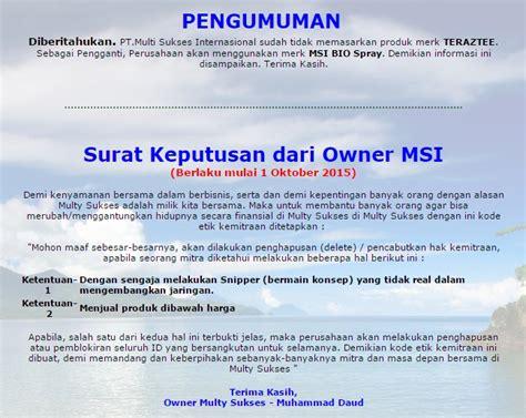Sabun Madu Msi msi bio spray distributor dan agen resmi dari pt msi