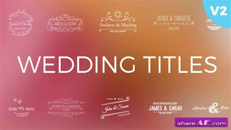 wedding title templates for after effects free videohive wedding titles 16778091 187 free after effects