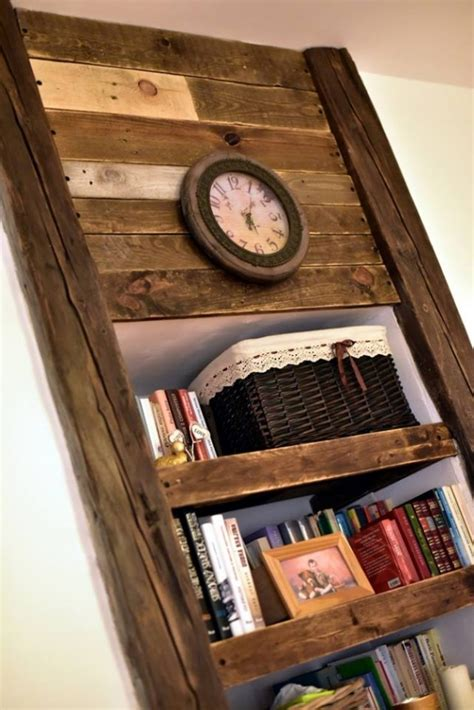 Shelf Projects by Pallet Shelves With Wall Decor Pallet Ideas Recycled