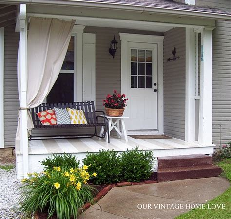 Painted Porch Floor by Painted Porch Floor Daylilies Pillows Patios