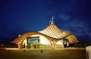 White Wooden Benches Centre Pompidou Metz Innovative Architecture Trib 249