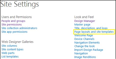 How To Change Default Layout Of Add Page In Sharepoint 2013 Change Page Template